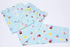 •Ice Cream Blue• Short Sleeve, Long Pants: 155rb Material: Cotton Size: All Size (LD = 106) Ask for Discount Welcoming Resellers • For order: WA: 0822-82-7777-03 Line: jazz.pajamas IG: @jazz.pajamas