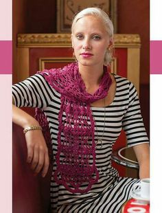 Ma Chérie Scarf by Mary Jane Hall from Colorful Crochet Lace