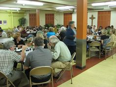 Church basement suppers - the Lutherans and  hot dishes! I attended many, many of these basement suppers.