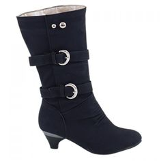 Fashionable Solid Color and Metal Rivets Design Women's Mid-Calf Boots #>=#>=#>=#>=#> Click on the pin to check out discount price, color, size, shipping, etc. Save and like it!