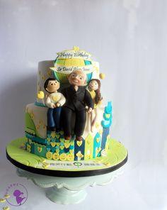 Celebration Cake for 88th Birthday  by Sugar Me Kissery VISIONARY PATISSERIE BY SUGAR ME KISSERY info@sugarmehk.com