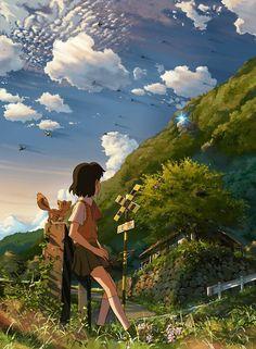 Hoshi Wo Ou Kodomo by Makoto Shinkai