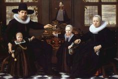 Attributed to Huijgh Pietersz Voskuijl, Portrait of a family, ca. 1635 - Private collection, United Kingdom