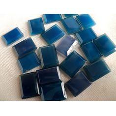 Blue Onyx   AAA Rectangular Shaped Blue Onyx by gemsforjewels, $31.20