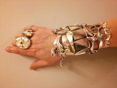 Björn Weckström sculptural sterling silver bracelets for Lapponia, Helsinki, Finland. 1960's & 1970's.