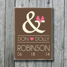 Personalized Wedding SignAnniversary by doudouswooddesign on Etsy, $42.00