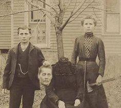 Creepy Vintage Halloween Photo