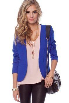 I want this bright blue blazer please!