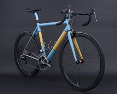 Busyman leatherwork on: Double Band, Duck Egg Blue, Custom Yellow, Corretto | by Baum Cycles