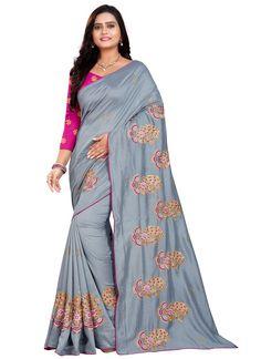 Embroidered Silk Classic Designer Saree