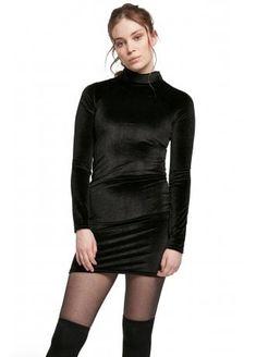 Urban Classics Velvet Turtle Neck Dress | Attitude Clothing