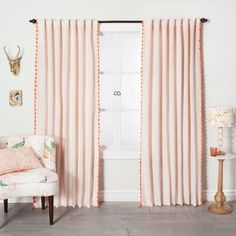 Marvelous Cool Tips: Orange Brown Curtains white curtains living room.Oker Yellow Curtains white and beige curtains. Cute Curtains, Tassel Curtains, Colorful Curtains, Hanging Curtains, Window Curtains, Curtains Living, Pink Curtains Nursery, Blush Curtains, Roman Curtains