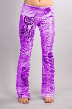 Color Brush Yoga Pantalones por COUTURETEEdotCOM en Etsy