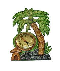 Buy wooden handmade #wallhanging #clock online at #craftshopsindia