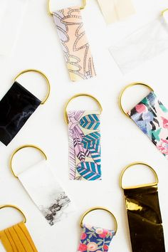 Use up fabric scraps with these Contact Paper Keyrings | Fall For DIY