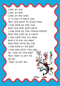 What rhyme pattern does the cat in the hat by Dr Seuss have?