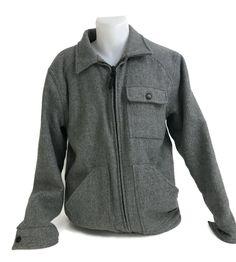 3387c14627f BILLABONG Men s Wool Blend Grey Winter Jacket Fleece Lining Heavy Size  Large  Billabong  BasicJacket