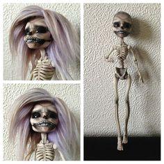 OOAK Monster High Repaint Fashion Art Doll Skeleton | eBay