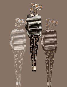 Daisy. Fashion illustration