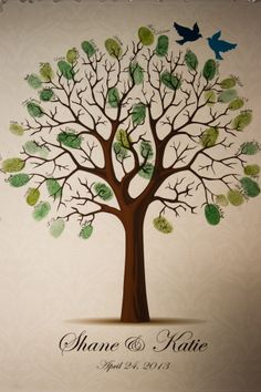 Fingerprint tree guest book #disneywedding