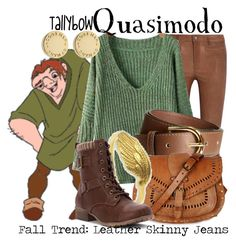 """Quasimodo"" by tallybow ❤ liked on Polyvore featuring M.i.h Jeans, H&M, Warehouse, NOVICA, Jellypop and Marc by Marc Jacobs"