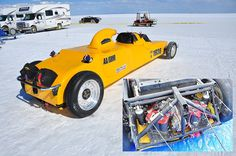 Bob and Rocky Jackson's AA/GRMR record setting racer at Bonneville.
