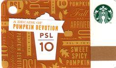 Pumpkin Devotion Starbucks Card - Closer Look Starbucks Rewards, Member Card, Card Designs, Fall Pumpkins, Pumpkin Spice, Usa, Mini, Cards, Poster