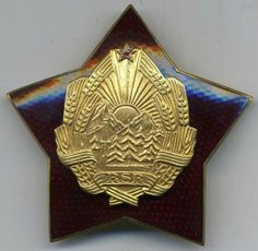 Decoration: Order for Distinguished Services in Defense of the Social Or (Romania) - Orders: Socialist Republic of Romania (RSR)) Romania, Decor, Decoration, Decorating, Deco