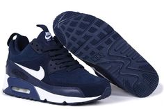 new products 9e769 4fe98 2016 New Nike Air Max 90 Deep Blue Sneakerboot Size 36 45 Shoes For Women