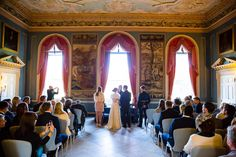 Clandon Park Wedding ceremony in the Tapestry Room