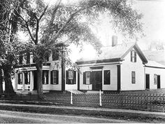 Residence of Judge John Niles, right wing used as Judge Niles law office. Later became The Presbyterian Church Manse, photo from Rensselaerville Historical Society