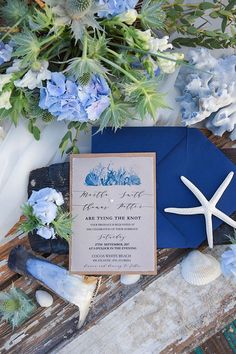 beach wedding stationery