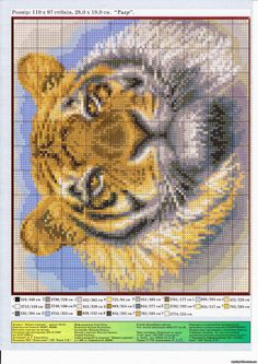 Save the Tigers! Xmas Cross Stitch, Just Cross Stitch, Cross Stitch Animals, Cross Stitching, Free Cross Stitch Charts, Counted Cross Stitch Patterns, Cross Stitch Designs, Cross Stitch Embroidery, Cross Stitch Pictures