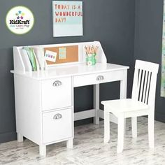 Kidkraft Study Desk With Drawers Hayneedle regarding sizing 3200 X 3200 Kidkraft Study Desk & Chair Set - There are a big variety of desk chairs out there Kids Study Desk, Kid Desk, Homework Desk, Kids Homework, Homework Station, Desk For Kids, Kids Study Table Ideas, Desk And Chair Set, Desk Chair