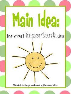 for teaching main idea