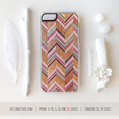 iPhone 5C Case Wood Print iPhone 5s Case Chevron by HelloNutcase, $19.00