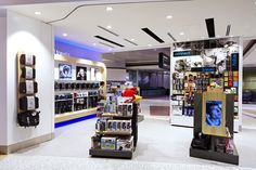 Tech2go flagship store, Sydney Airport. Interior design, graphic design and fixture design by Thoughtspace