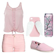 """Untitled #567"" by gibbgibb ❤ liked on Polyvore featuring H&M, Wet Seal and TOMS"
