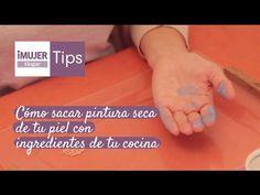 Tips Hogar | Cómo sacar pintura seca de tu piel con ingredientes de tu cocina | @iMujerHogar - YouTube