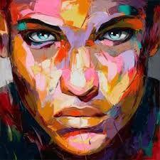 batik self portrait art colourful abstract - Google Search