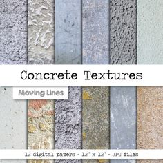 Concrete Texture Digital Paper, Grunge Stone, Distressed Background, Stucco Wallpaper, Plaster Wall 300 dpi 12 JPG files by MovingLines on Etsy Concrete Block Walls, Cinder Block Walls, Concrete Stone, Stained Concrete, Painting Concrete Walls, Types Of Concrete, Plaster Texture, Concrete Texture, Stone Texture