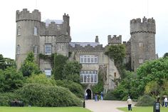 Malahide Castle, Ireland. My kids like this castle because they have a incredible playground here.