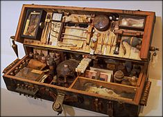 The mysterious valise of a mad necromancer.  ~Artist Ron Pippin
