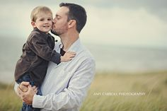 father & son, Lake Michigan. photo: Amy Carroll Photography