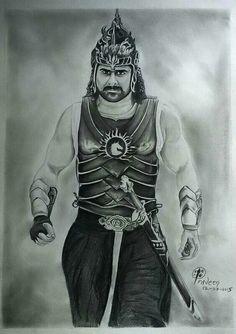 Baahubali Prabhas pencil sketch by his die hard fan...