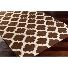 Hand Woven Oscar Moroccan Trellis Geometric Flatweave Wool Rug (3'6 x 5'6) | Overstock.com Shopping - The Best Deals on 3x5 - 4x6 Rugs