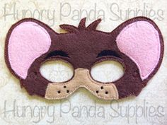 Dormouse Mask Embroidery Design, alice in wonderland mask, machine embroidery, ITH mask, in the hoop mask, embroidered mask, 5x7, 6x10