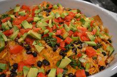 Chicken and Black Bean Enchilada Nachos