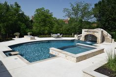 The World's Greatest Pools are built with Pebble Tec pool finishes. View a gallery of gorgeous pools featuring a variety of our PebbleSheen finishes. Backyard Pool Designs, Swimming Pools Backyard, Pool Landscaping, Luxury Pools, Dream Pools, Cool Pools, In Ground Pools, Pool Houses, Outdoor Areas