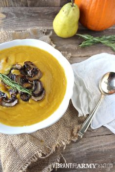 Between the pumpkin, pears, and cinnamon, this Pumpkin and Pear soup is like fall in a bowl. Plus it's paleo, vegan, and autoimmune protocol friendly!